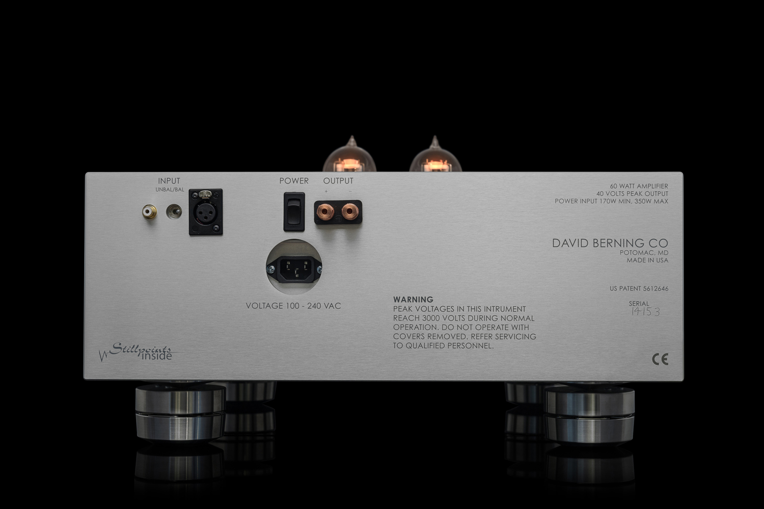 Tube amplifiers for high-end audio by The David Berning Company